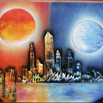 New York Spray Paint Art Gift Mothers Day