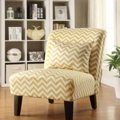 Yellow Upholstered Accent Chair Childrens Desk And Set Pink Best Chairs Products On Wanelo Chelsea Ii Collection White Chevron Pattern Printed Fabric With Wood Legs