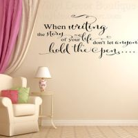 Writing Story of Life Wall art wall decal from Vinyl Decor
