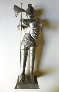Vintage Knight Armor Statue // Metal // from JackpotJen