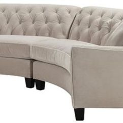 Home Decorators Tufted Sofa White Leather Uk Riemann Curved Sectional Sofas From And Loveseats Living Room Furniture
