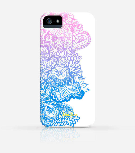 Zentangle Drawing Pattern 6 Colors iPhone from kiwihen on Etsy
