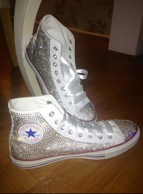 Bedazzled rhinestone converse all star from Victorolla on Etsy