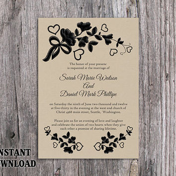 Rustic Wedding Invitation Templates Mixed With Your Creativity Will Make This Looks Awesome 1