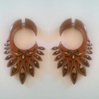 Best Painted Wood Earrings Products on Wanelo