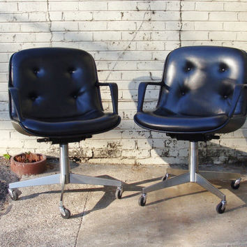 steelcase vintage chair camping lounge chairs shop on wanelo mid century modern black charles pollock style swivel rolling office message for