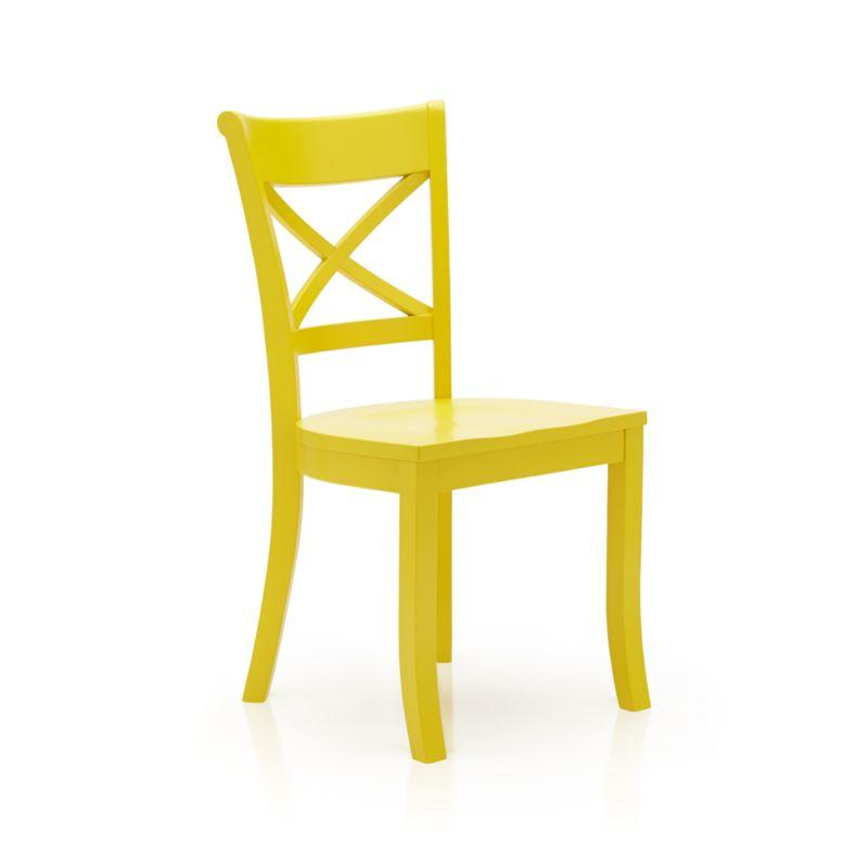 Vintner Yellow Side Chair from Crate and Barrel  Things I