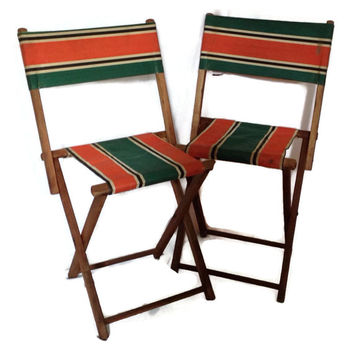 antique beach chair outdoor chaise lounge chairs lowes best vintage wood folding products on wanelo child s and striped canvas