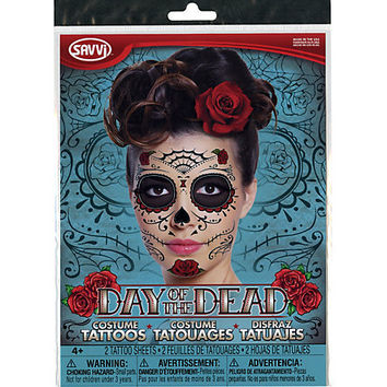 day of dead temporary face