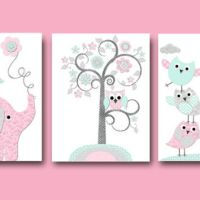 Elephant Nursery Giraffe Nursery Wall from artbynataera on
