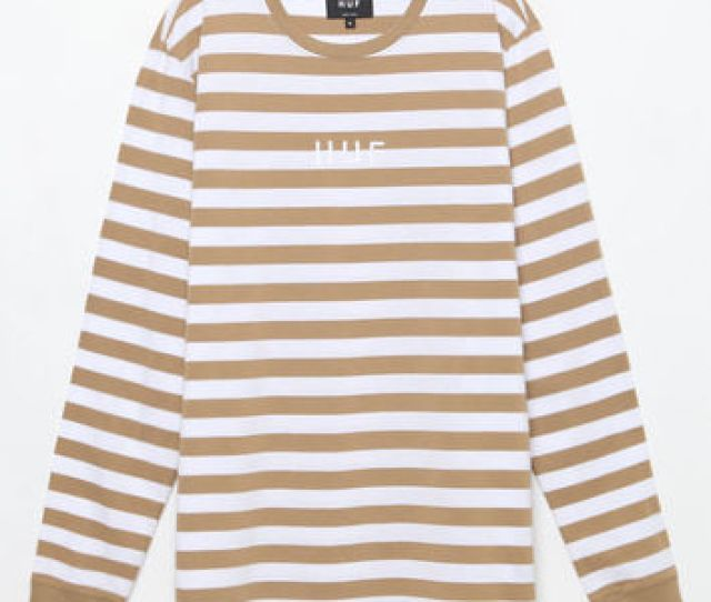Huf Neutral Striped Long Sleeve T Shirt At Pacsun Com