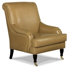 One Kings Lane Chairs Wooden Captains Oxford Leather Chair Gold Accent And From
