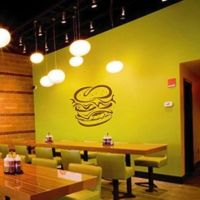 ik1472 Wall Decal Sticker fast food from Amazon | Wall decor