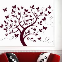Wall Decal Tree Silhouette With Branches from ...