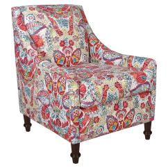 Floral Arm Chair Client Chairs Office Furniture Holmes Swoop Red Multi From One Kings Lane
