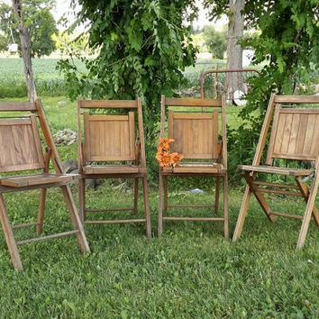 wood camp chair with cooler best wooden folding chairs products on wanelo vintage 4 slat rustic industrial home decor patio
