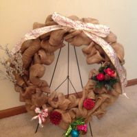 Best Decorating A Christmas Wreath Burlap Products on Wanelo
