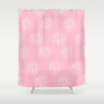 Shop Pastel Pink Shower Curtains On Wanelo