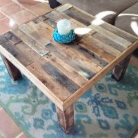 square reclaimed recycled wood pallet from KaseCustom on Etsy