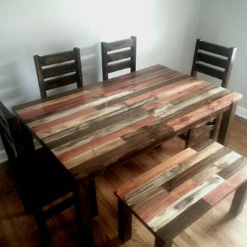 rustic kitchen tables moen faucet aerator dining table room from alexfurniture1 on reclaimed wood dinin