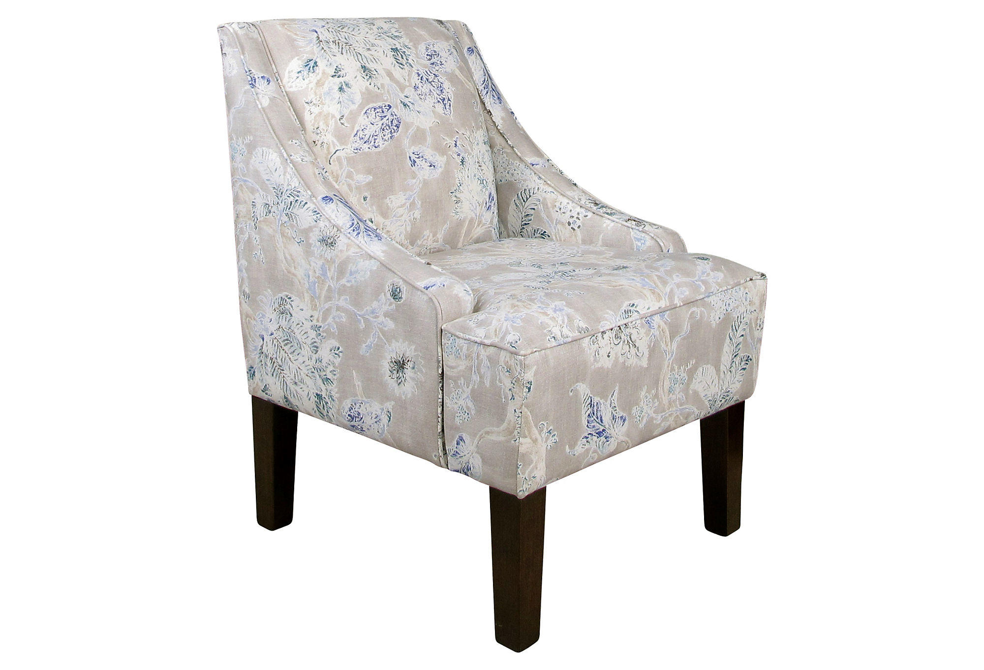 grey accent chair with arms occasional chairs johannesburg fletcher swoop arm gray floral from one kings lane