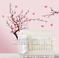 white cherry blossom wall decals flower from cuma on Etsy