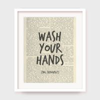 Funny Bathroom Art Print, Wash Your from MyPrintableArt