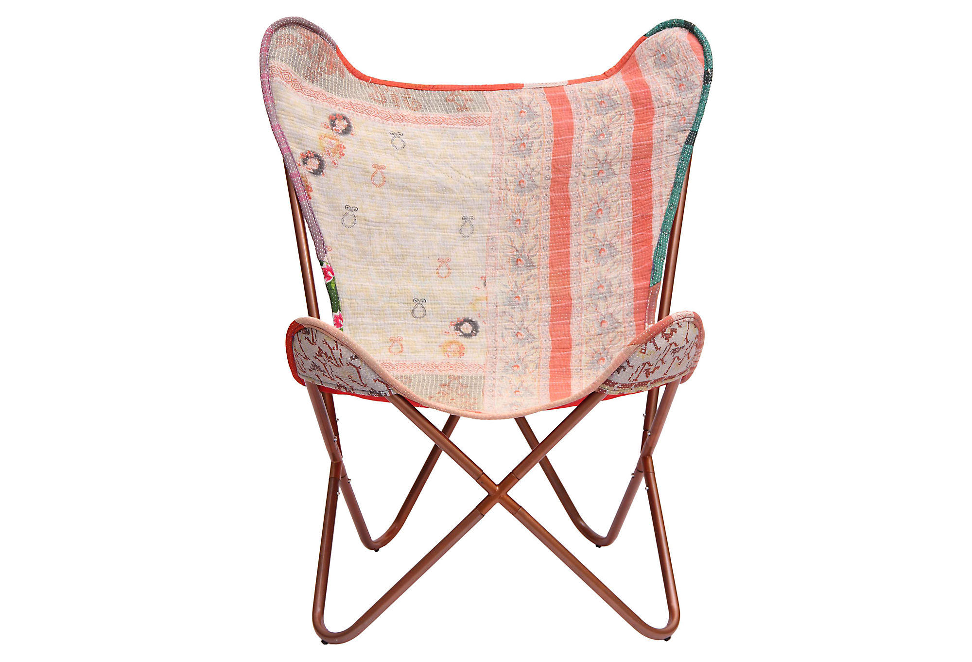 White Butterfly Chair Kantha Butterfly Chair White Coral From One Kings Lane