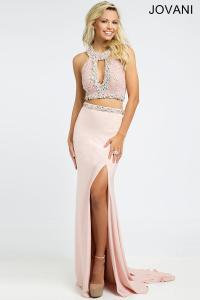 Pink Two-Piece Dress 98245 - Prom Dresses from Jovani ...