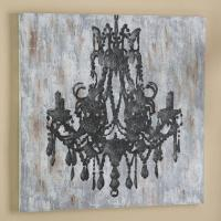 Chandelier Canvas Wall Art from PBteen