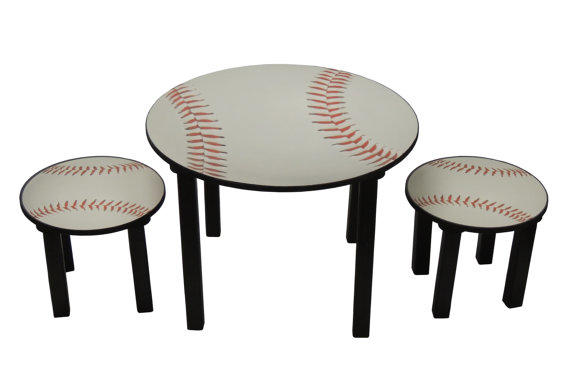 Childrens baseball theme activity table from DWRogersSales on