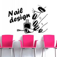 Wall decal decor decals art nails salon from ...