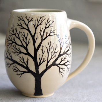 Belly Tree Mug Pottery Coffee Cup with from