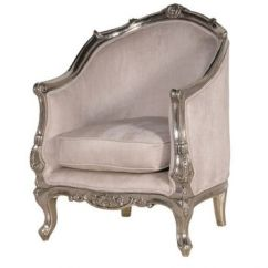 Metal Tub Chairs Recliner Brisbane Argentine Silver Chair French From Crown Style Furniture