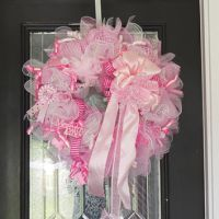 XL Baby Girl Wreath, Baby Shower Wreath, from ...