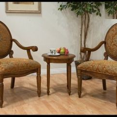 Floral Print Accent Chairs Knoll Saarinen Chair Best Products On Wanelo 3 Pc Walnut Finish Wood And Side Table Upholstered With A Fabric