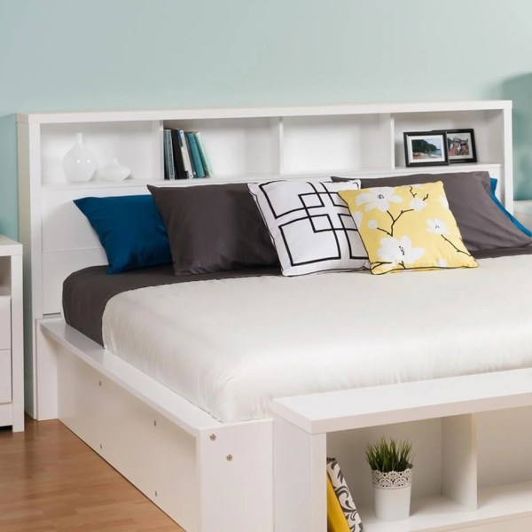 King Size Bookcase Headboard With Storage Hearts Attic
