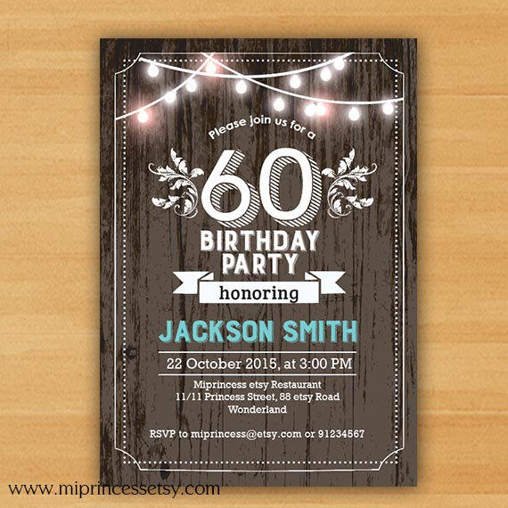 Birthday Invitation Chalkboard Birthday From Miprincess On
