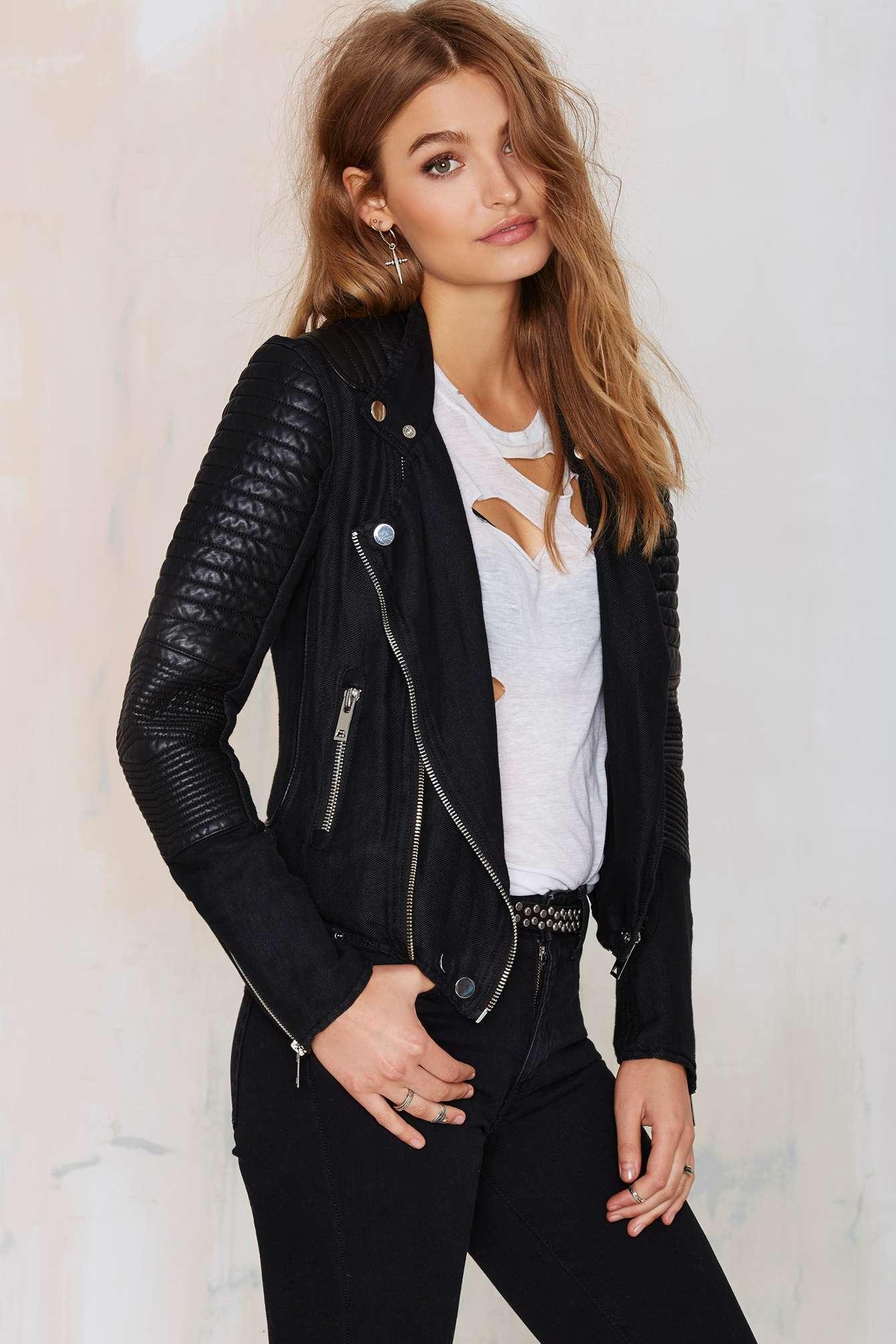 blank nyc skin tight quilted moto jacket from nasty gal