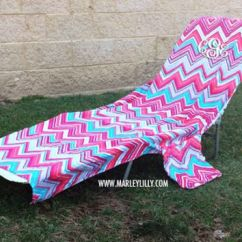 Beach Chair Cover Ice Fishing Canadian Tire Monogrammed Lounge From Marley Lilly Lounger Towel