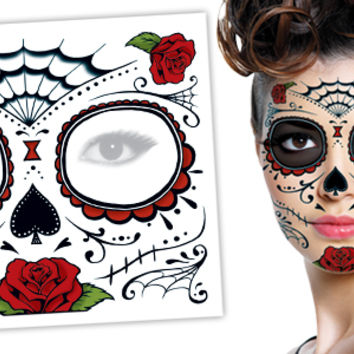 day of dead roses face halloween