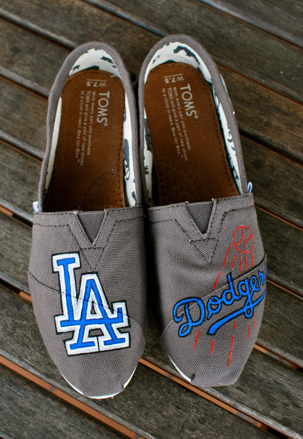 La Dodgers Toms Shoes From Bstreetshoes