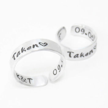 Personalized promise rings