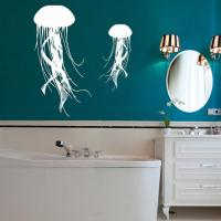 Jellyfish Wall Decal Sea Ocean Animal from AmazingDecalsArt on