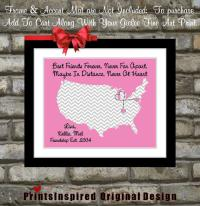 Personalized Best Friend Birthday Gift from Printsinspired on