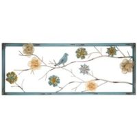 Blue & Cream Framed Iron Bird & Flowers from Hobby Lobby