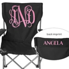 Folding Chair Embroidered Roll Back Parson Slipcovers Monogrammed Softball From Posh Boutique Choose Your Monogram Beach Camping Sports
