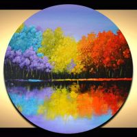 Best Circle Canvas For Painting Products on Wanelo