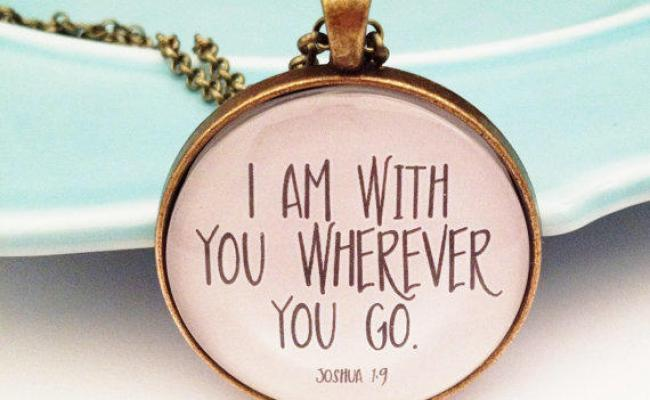 Bible Verse Necklace Christian Necklace From Minmac On Etsy