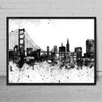 Best City Skyline Wall Art Products on Wanelo